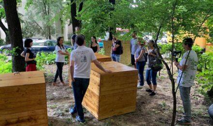 instalare cutii compost